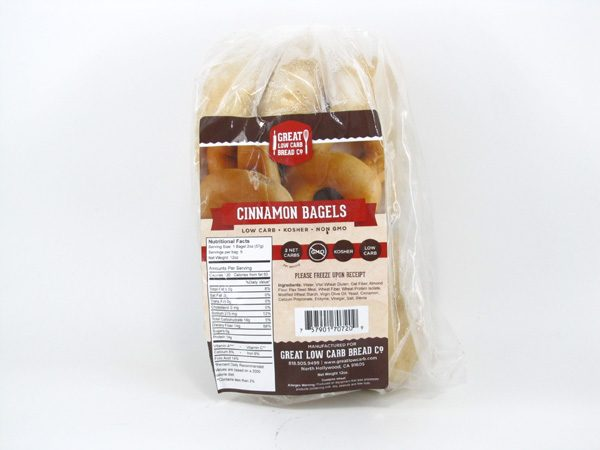 Great Low Carb Bagel - Cinnamon - front view