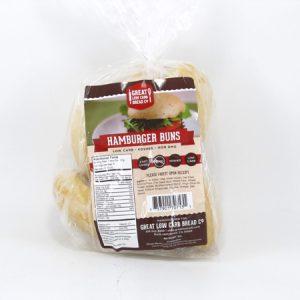 Great Low Carb Bun - Hamburger Buns - front view