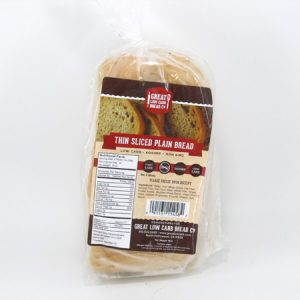 Great Low Carb Bread - Thin Sliced Plain Bread - front view