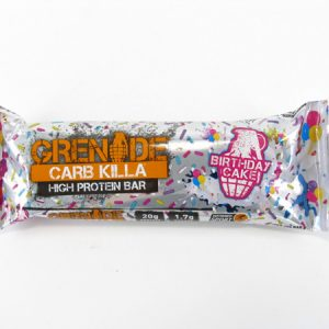 Grenade Carb Killa Protein Bar - Birthday Cake - front view