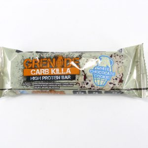 Grenade Carb Killa Protein Bar - White Chocolate Cookie - front view