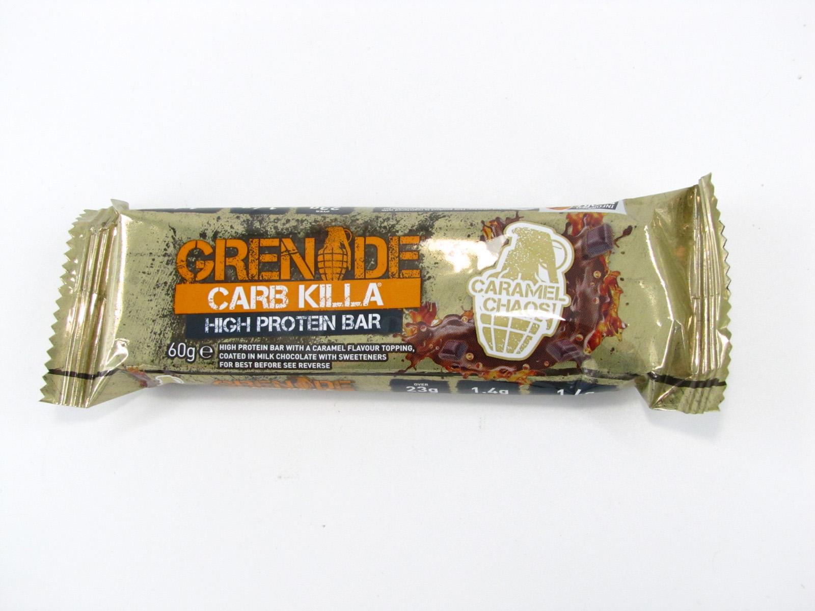 Grenade Carb Killa Protein Bar - Caramel Chaos - front view