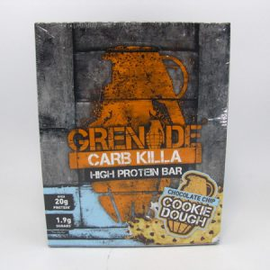 Grenade Carb Killa Protein Bar - Cookie Dough Box of 12 - front view