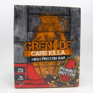 Grenade Carb Killa Protein Bar - Peanut Nutter Box of 12 - front view