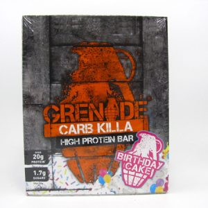 Grenade Carb Killa Protein Bar - Birthday Cake Box of 12 - front view