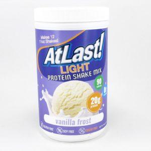 AtLast Light Protein Shake Mix - Vanilla Frost - front view