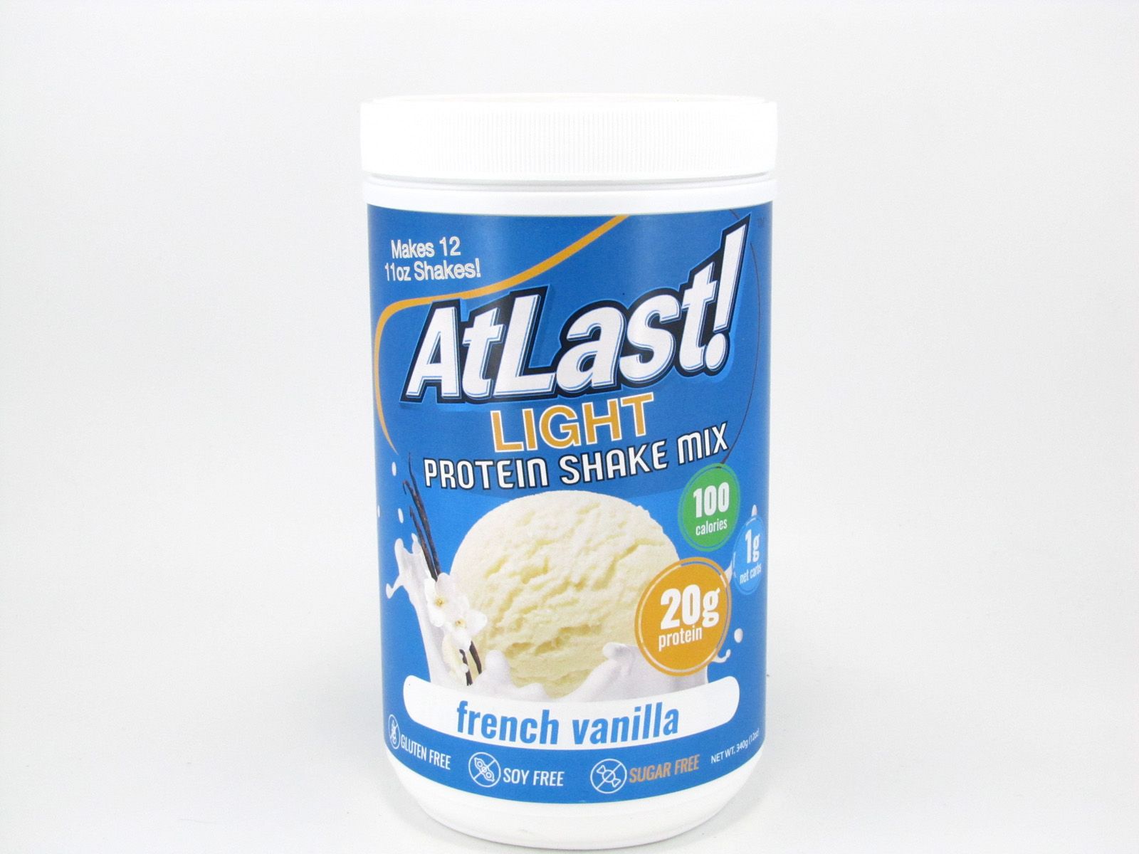 AtLast Light Protein Shake Mix - French Vanilla - front view