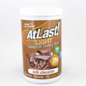 AtLast Light Protein Shake Mix - Milk Chocolate - front view