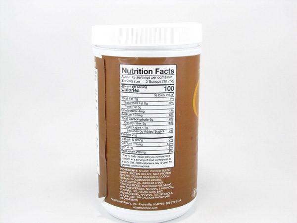 AtLast Light Protein Shake Mix - Milk Chocolate - back view