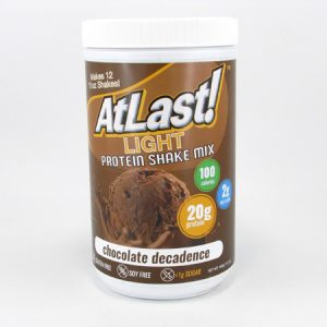 AtLast Light Protein Shake Mix - Chocolate Decadence - front view