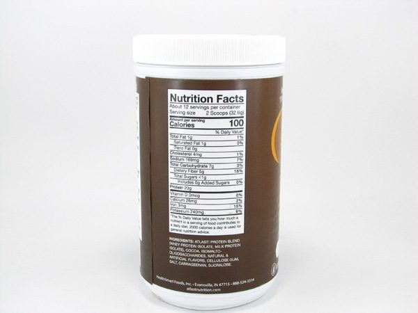 AtLast Light Protein Shake Mix - Chocolate Decadence - back view