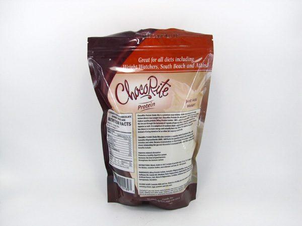 Chocorite Protein Shake (1lb)- Chocolate Supreme - back view
