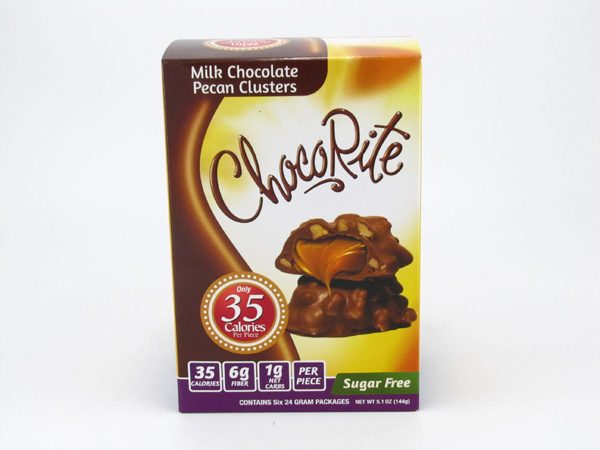 Healthsmart Chocorite Bar ( Value pack ) - Milk Chocolate Pecan Clusters- front view