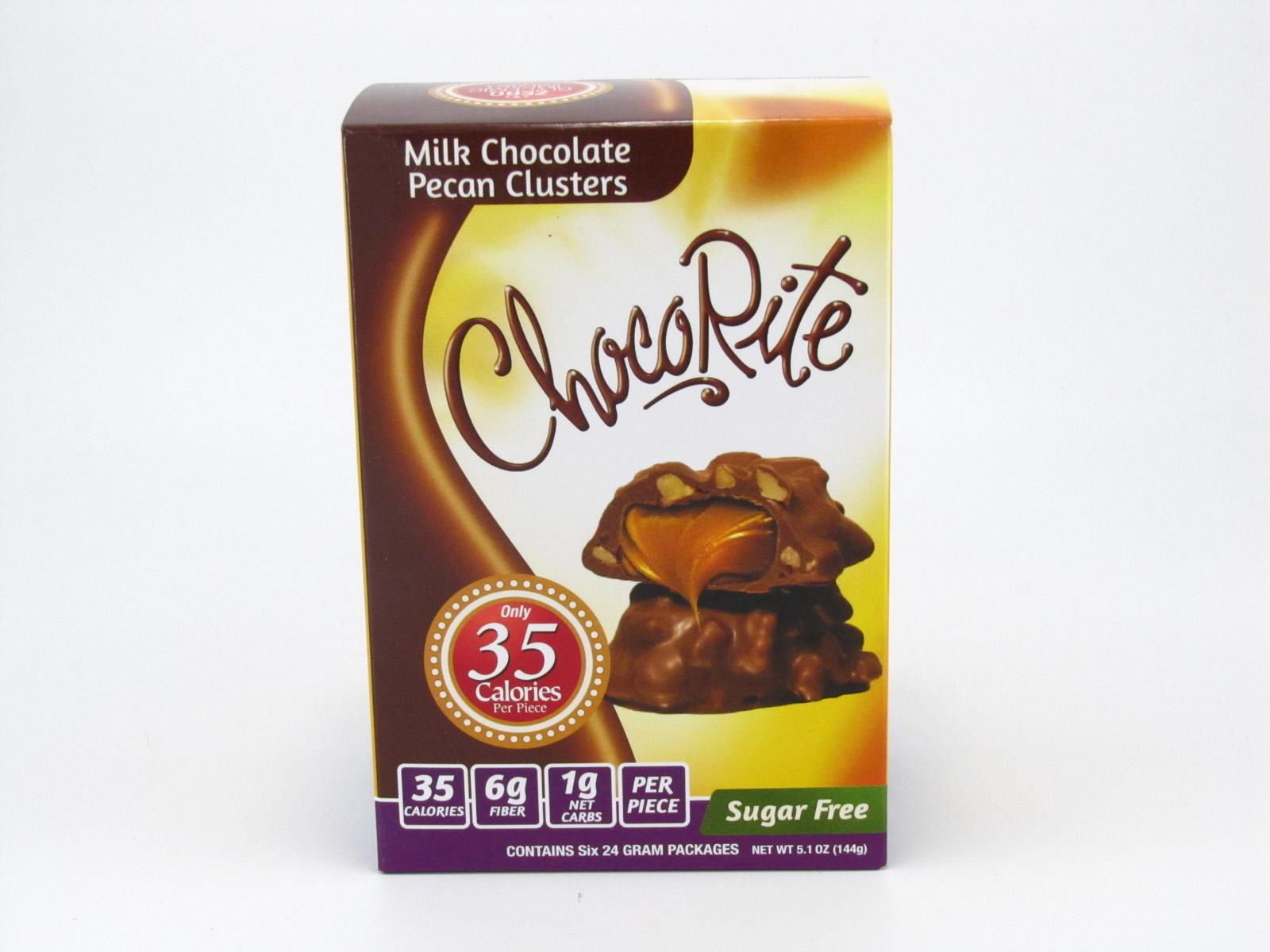 Healthsmart Chocorite Bar ( Value pack ) - Milk Chocolate Pecan Clusters- front view