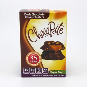 Healthsmart Chocorite Bar (Value pack) Dark Chocolate Pecan Clusters - front view