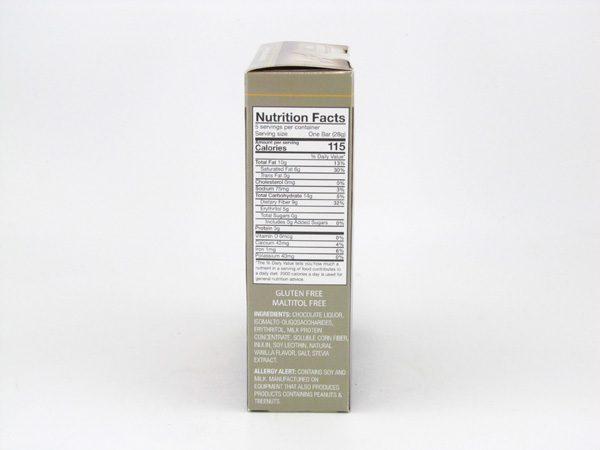 Chocorite Bar (Five 28g ) - Milk Chocolate- side view