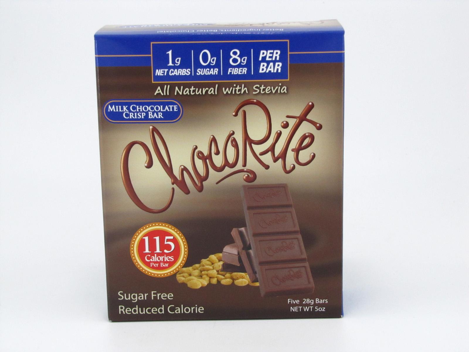 Chocorite Bar (Five 28g ) - Milk Chocolate Crisp - front view