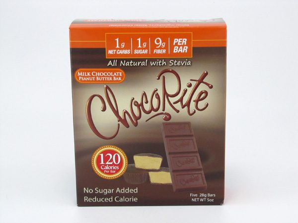 Chocorite Bar ( Five 28g ) - Milk Chocolate Peanut Butter - front view
