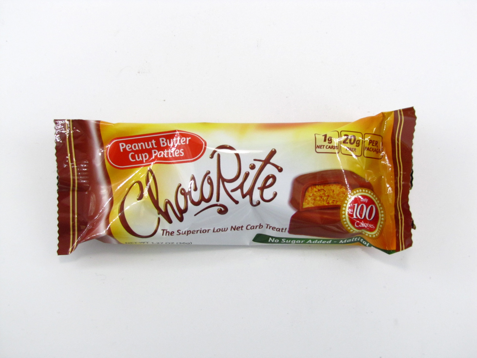 Chocorite Bar (36g) - Peanut Butter Cup Patties - front view