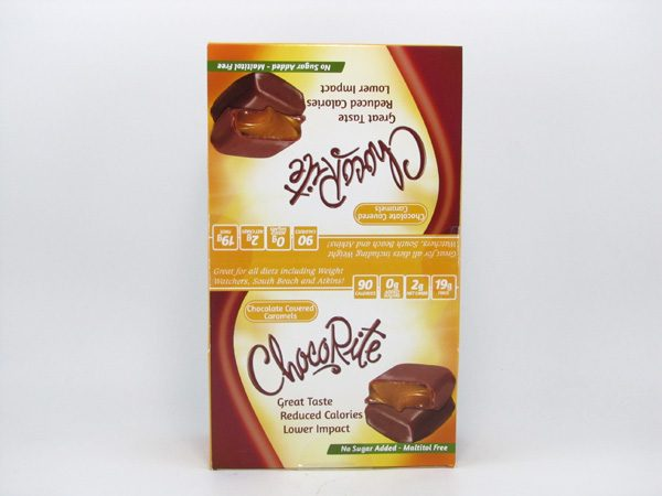 Chocorite bar (36g) - Chocolate Covered Caramels Box of 16 - front view