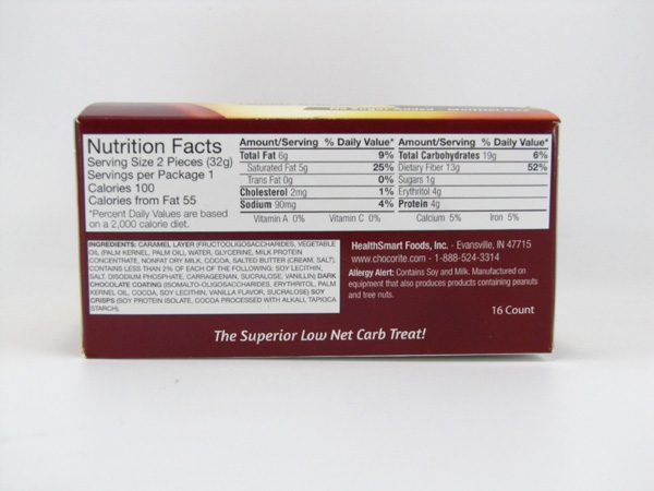 Chocorite Bar (32g) - Dark Chocolate Crunch Box of 16 - side view