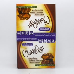 Chocorite Bar (32g) - Milk Chocolate Pecan Cluster Box of 16 - front view