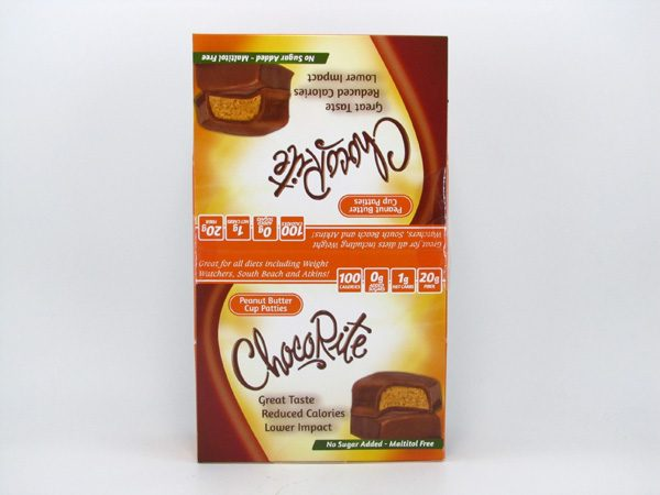 Chocorite Bar (36g) - Peanut Butter Cup Patties Box of 16 - front view
