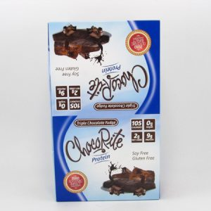 Chocorite Protein Bar ( 34g)- Triple Chocolate Fudge Box of 16 - front view