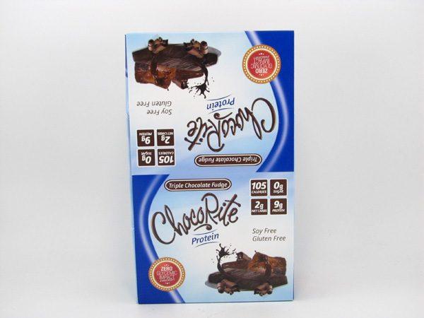 Chocorite Protein Bar ( 34g)- Triple Chocolate Fudge Box of 16 - front view