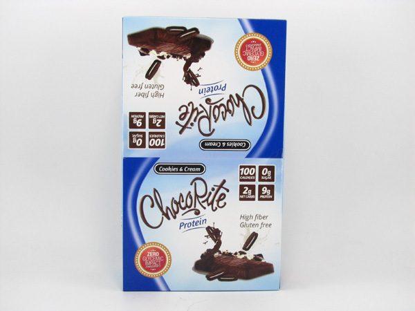 Chocorite Protein Bar ( 34g) - Cookies & Cream Box of 16 - front view