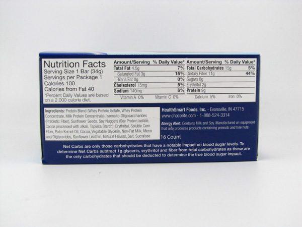 Chocorite Protein Bar ( 34g) - Cookies & Cream Box of 16 - side view