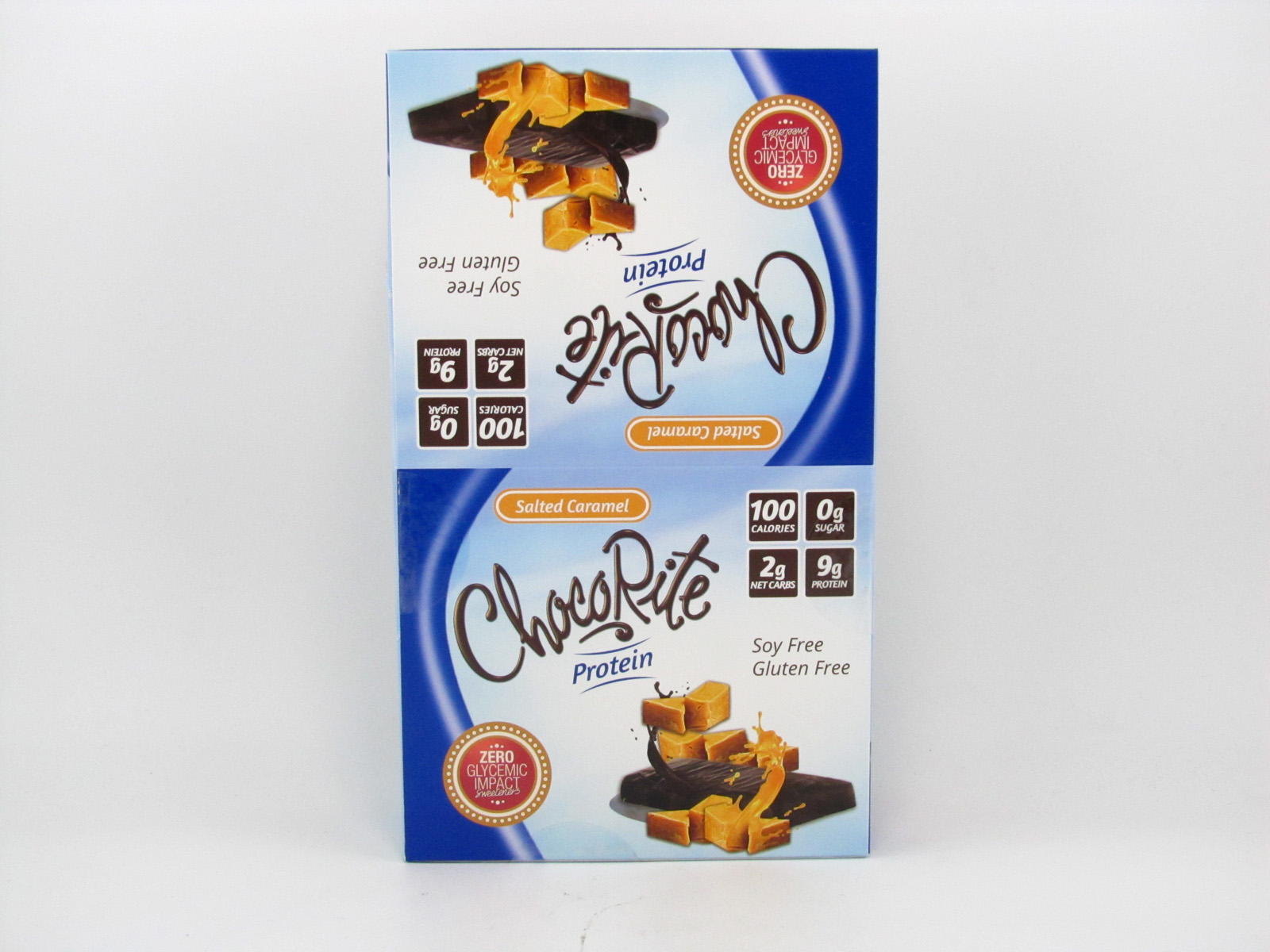 Chocorite Protein Bar ( 34g) - Salted Caramel Box of 16 - front view