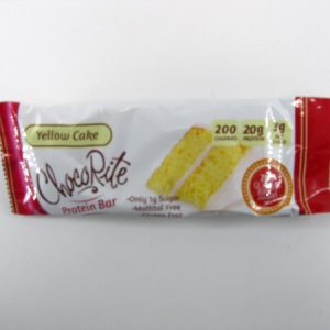 Chocorite Protein Bar (64g) - Yellow Cake - front view