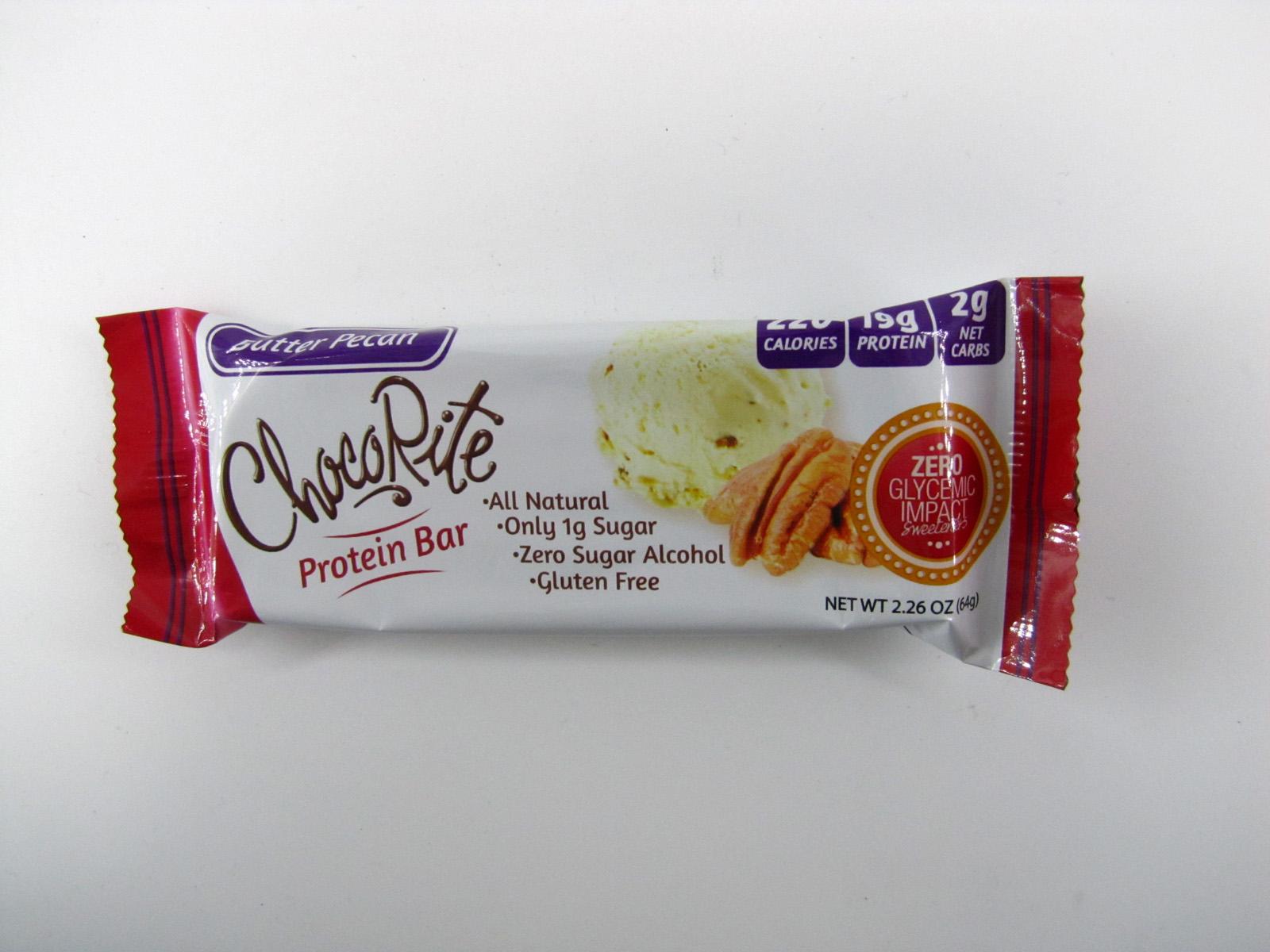 Chocorite Protein Bar (64g) - Butter Pecan - front view