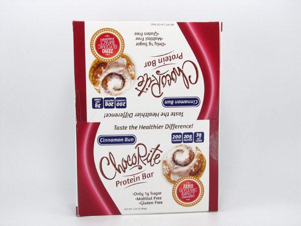 Chocorite Protein Bar ( 64g) - Cinnamon Bun Box of 12 - front view