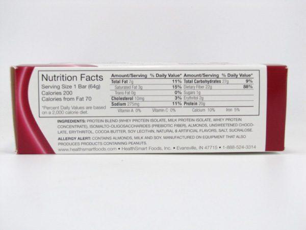 Chocorite Protein Bar ( 64g) - Cinnamon Bun Box of 12 - side view