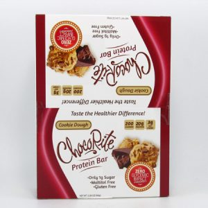 Chocorite Protein Bar ( 64g) - Cookie Dough Box of 12 - front view
