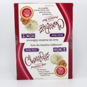 Chocorite Protein Bar ( 64g) - Butter Pecan Box of 12 - front view