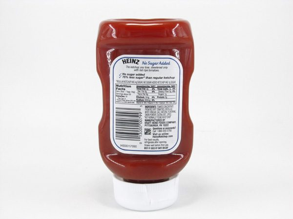 Heinz - Ketchup - back view