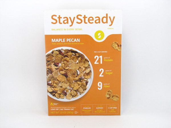 Stay Steady Cereal - Maple Pecan - front view