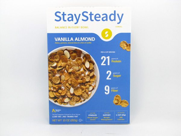 Stay Steady Cereal - Vanilla Almond - front view