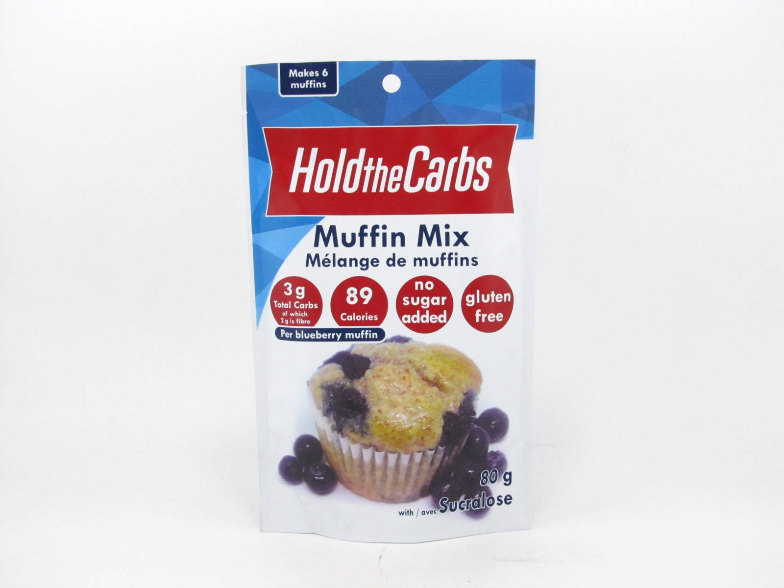 Hold the Carbs - Low Carb Muffin Mix 80g - front view