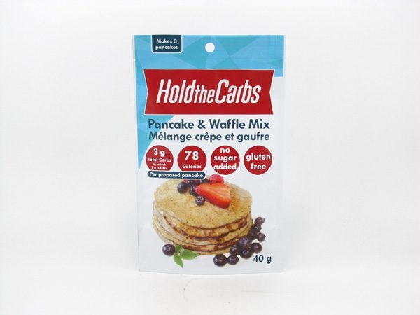 Hold the Carbs - Low Carb Pancake & Waffle Mix 40g - front view