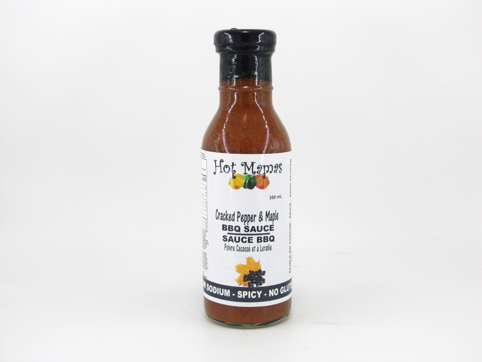 Hot Mamas - Cracked Pepper & Maple BBQ Sauce - front view