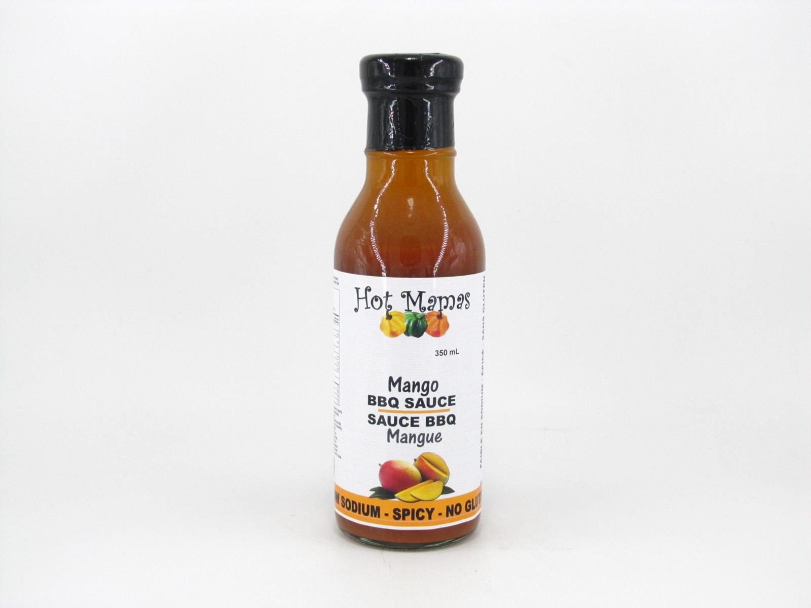 Hot Mamas - Mango Mango BBQ Sauc - front view