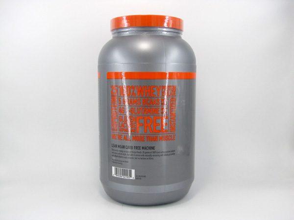 Isopure Whey Protein Shake (3lb)- Mango Peach - side view