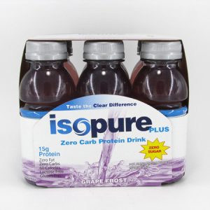 Drink ( Isopure ) - Grape Frost Pack of 6 - front view