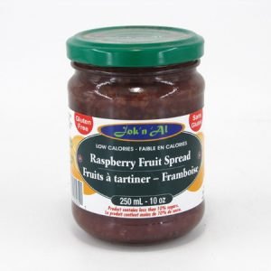Jok-N-Al Raspberry Fruit Spread - front view