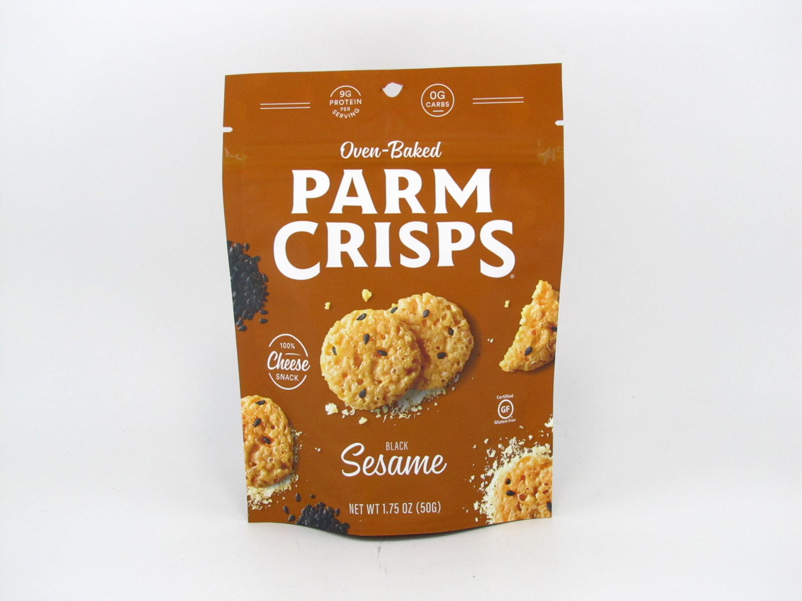 Parm Crisps Mini - Sesame (50g) - front view