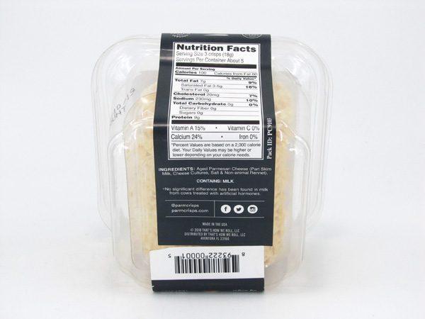Kitchen Table Baker - ParmCrisps Original - back view